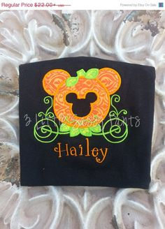 Minnie Mouse Pumpkin Carriage Embroidered Shirt- Minnie Mouse Halloween Shirt- Custom- Applique- Pumpkin Carriage Shirt- Disney by 3LittleSassyPants on Etsy https://www.etsy.com/listing/202919351/minnie-mouse-pumpkin-carriage