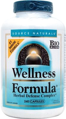 Source Naturals Wellness Formula 240 Capsules Herbal Defense Complex # 1 Immune Formula # 2 Cold Weather Formula Supports interlocking components of the immune system Cleansing and clearing of mucous membranes