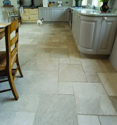 Glacier Limestone in a tumbled finish. These limestone tiles are hardwearing and practical.