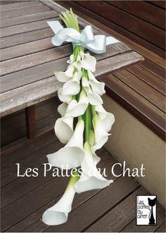 ウェディングフラワーセレクトショップ ~レ・パデュシャ~(WeddingFlowerSelectshop ~Les Pattes du Chat~)... カラーのアームブーケ