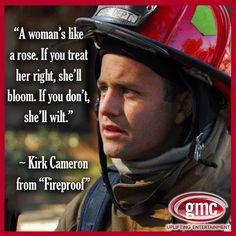 A woman is like a rose.  Fireproof.