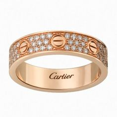 Love Wedding Ring, Diamond Paved Cartier Rings