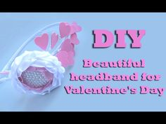 How to make a beautiful headband for Valentine's day/Kanzashi/diy flower...