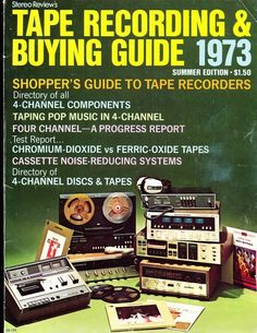 Tape Recording and Buying Guide, 1973.