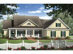 Country House Plan with 2269 Square Feet and 4 Bedrooms from Dream Home Source | House Plan Code DHSW076594