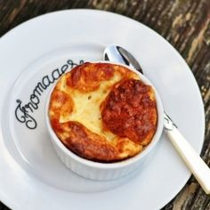 """A classic French dish where the drama is """"fleeting"""" - cheese soufflé..."""