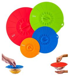Reusable Silicone Suction Covers and Bowl Lids