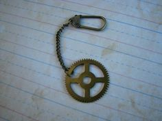 Steampunk Keychain with Vintage Grandfather by BCAINSPIRATIONS, $8.00