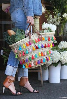 DIY Tassel Totes - This DIY Tutorial Teaches You How to Make Your Very Own Tassel Bag (TrendHunter.com)