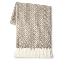 Threshold™ Metallic Geo Sweater Knit Throw : Target