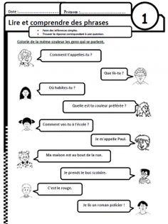 Lire des phrases simples, comprendre, compréhension, Cp, CE1, inférences