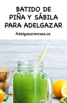 5 Batidos verdes para adelgazar la barriga Healthy Smoothies, Healthy Drinks, Healthy Recipes, Salad Recipes, Detox Diet For Weight Loss, Detox Juice Recipes, Fat Burning Detox Drinks, Diet Drinks, Beverages