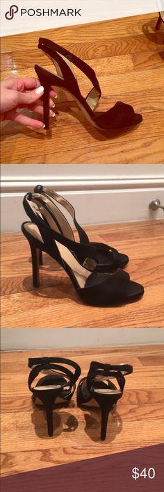 Zara Basic Suede Strappy Sandals Black Zara Basic Suede sandals. Worn a fee times, like new. 4 inch heel size 41 Zara Shoes Heels