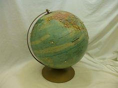REPLOGLE GLOBE OF THE EARTH! VINTAGE! U.S.S.R./DIVIDED VIETNAM! UNDATED!