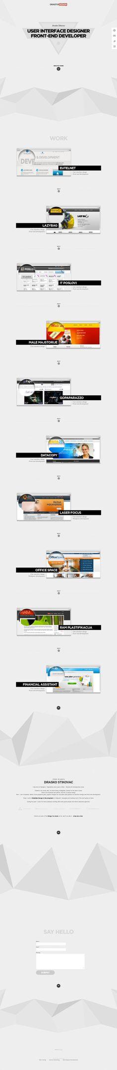 Web designer - Front-end developer - Drasko Stikovac - Best website, web design inspiration showcase - www.niceoneilike.com