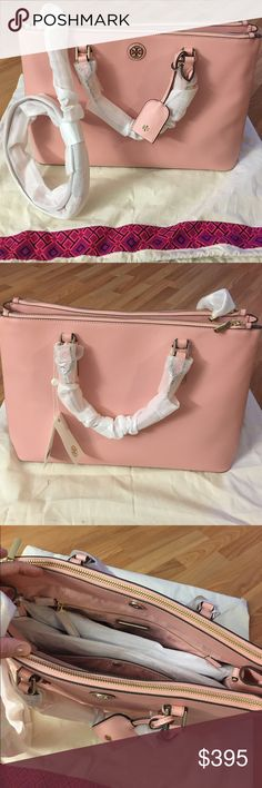 NWT Robinson Double Zip Tote NWT, Just beautiful!! 🌹Rose color. One of a kind. Very hard to find in this color. Beautiful thick leather, double zip. Plenty of space, large size. 💕Just gorgeous💕Comes with dust bag. NO BUNDLE DISCOUNT. 🚫NO TRADE🚫REASONABLE OFFERS will be considered. 🌺 Tory Burch Bags Totes