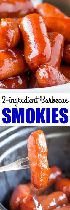 These Barbecue Little Smokies are officially the easiest appetizer, ever. They take just seconds to assemble with zero prep and only 2 ingredients! Perfect for your summer BBQ!