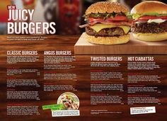 Menu – T.G.I. Friday's Enfield Steaks and Burgers
