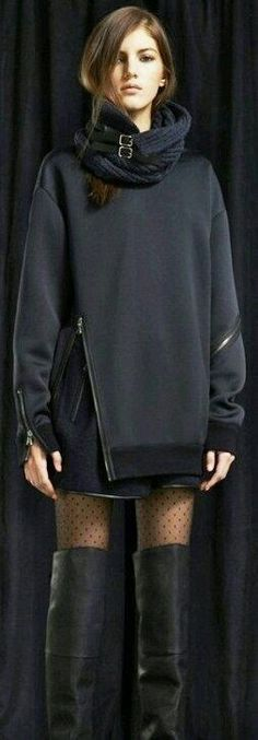 Black chaquet... - Street Fashion