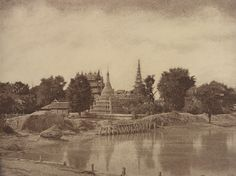 Captain Linnaeus Tripe: Photographer of India and Burma, 1852–1862 Linnaeus Tripe, Amerapoora: Shwe-doung-dyk Pagoda, September 1-October 21, 1855, albumen print, Lent by The Metropolitan Museum of Art, Purchase, The Buddy Taub Foundation, Dennis A. Roach and Jill Roach, Directors, and Alfred Stieglitz Society Gifts, 2012, © The Metropolitan Museum of Art