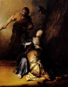 Rembrandt Paintings | Rembrandt Paintings - Rembrandt Samson And Delilah Painting
