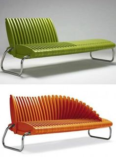 Hairbrush-bench, Unique design, Uncommon find, Interactive home & office furniture. Creative chair design.
