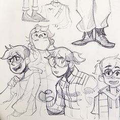 """Gaby Epstein en Twitter: """"Sorry I've been MIA- been visiting the fam in Chile. But here's some OC sketches from the last few days!… """""""