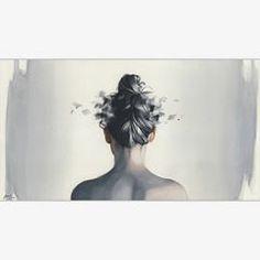 """Oblivion"" Watercolor on paper 70 x 38 cm #hair #woman #watercolor #painting #paint #art #artwork #fineart #contemporaryart #watercolorpainting #watercolorart #watercolour #aquarelle #akvarell #brush #paper #miro_z #waterblog #cartel_watercolorists #instaart #arts_help #beautifulbizarre #artist_4_shoutout #onyxkawai"
