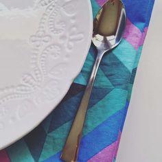 Geometric napkins for geometric wedding, summer linen napkins
