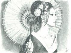 Geisha Drawings Traditional