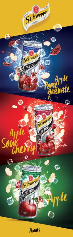 Schweppes Sparkling 100% Fruit Juice on Behance