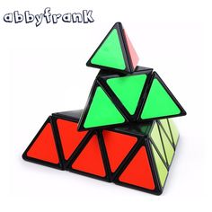 Abbyfrank Pyramid Magic Cube Pyraminx Speed Puzzles Magic Cube Game Triangle Shape Cubos Magicos Puzzle Learning Educational Toy #Affiliate