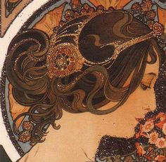 Art Nouveau and Boho hairstyles form How-To Hair Girl
