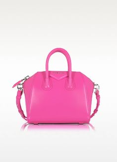 New Arrivals: Givenchy - Antigona Shocking Pink Leather Mini Bag