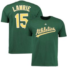 Brett Lawrie Oakland Athletics Majestic Youth Player Name & Number T-Shirt - Green - $16.14