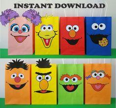 DIY Sesame Street Party Favor Bags/ Printable Elmo/ Cookie Monster/ Abby Cadabby/ Oscar/ Big Bird/ Party ideas/ faces/ Favors/ Decorations/  Goody/ Candy/ Goodie/ Sesame Street party Favor/ Gift/ Loot/ Treat/ Bags/ Bag/ Boxes/ birthday banner/ bottle labels/ tags/ Party games/ invite/ invitations/ Sesame Street cake/ cupcake toppers/ Fiesta Plaza Sesamo/ Festa Vila sésamo/ Bolo/ Pastel/ lembrancinhas/ piñata/ bottle labels/ cookies/ abby cadabby tutu/ table centerpieces.