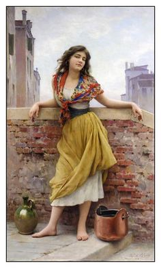 EUGENE DE BLAAS art - I love this casual pose in a classical artistic style.