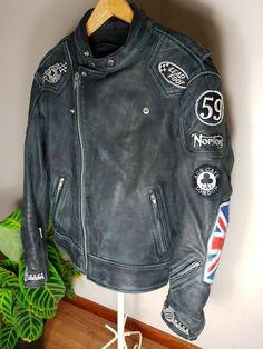 Vintage Norton Leather Motorbike Jacket Size L Motorbike Jackets, Motorbike Leathers, Motorcycle Helmets, Leather Motorcycle Pants, Motorcycle Jacket, Leather Men, Black Leather, New Motorcycles, Cool Patches