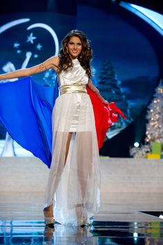 Miss France — Most DIY-Looking Eveningwear   36 Most Amazingly Elaborate Miss Universe Costumes