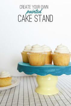 Cake stand DIY idea.