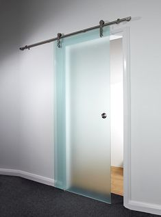 Sandblast Glass Sliding Doors - Frameless glass doors create a fabulously contemporary look in any room, allowing light to flood the space with a clear glass finish, yet allowing for privacy when you choose a sandblasted effect. 8mm glass panels and solid stainless steel hardware ensures they always look good, and are easy to install as all fixings are supplied.