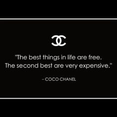 coco chanel the best things in life - Google Search
