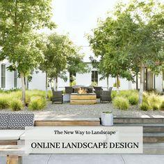 Backyard Patio Designs, Front Yard Landscaping, Courtyard Landscaping, Online Landscape Design, Layout, Garden Styles, Outdoor Gardens, Garden Design, House Design