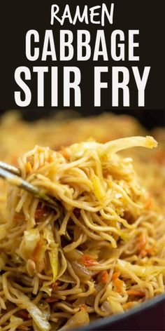 Ramen noodle cabbage stir fry recipe. Top with sweet chili sauce! My family absolutely loves this recipe! Stir Fry Recipes, Veggie Recipes, Asian Recipes, Vegetarian Recipes, Chicken Recipes, Cooking Recipes, Healthy Recipes, Top Ramen Recipes, Healthy Ramen