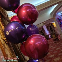 Personalised purple orbz balloons for a corporate event day Balloon Ideas, Balloon Decorations, Purple Balloons, Personalized Balloons, What Inspires You, Creative Decor, Corporate Events, Funeral, Christening