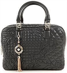 Versace Black Quilted Handbag