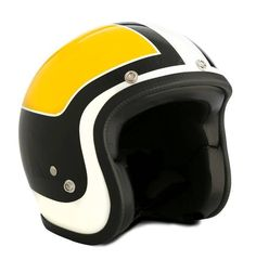 "Vintage helmet from 70's - made in Italy. The ""Superflat Vintage Replica yellow"" - ECE standard."
