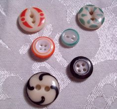 Antique China Stencil and Ringer Buttons