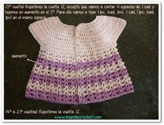 Round yoke baby crochet cardigan free pattern and tutorial Crochet For Kids, Free Crochet, Crochet Top, Cardigan Bebe, Crochet Cardigan, Crochet Stitches, Crochet Patterns, Crochet Baby Sandals, Crochet Doll Clothes