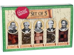 Great Minds Set of 5 Puzzles  #birthdaygiftsformen #puzzles #giftsformen